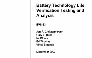 Battery Technology Life Verification Testing and Analysis