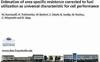 Cover des Vortrags: Estimation of area specific resistance